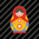 toy, doll, babushka, matryoshka, russian, nesting, traditional icon