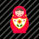 babushka, doll, girl, matryoshka, nesting, russian, toy