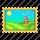 landscape, photo, picture, windmill icon