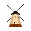 dutch, europe, holland, mill, netherlands, old, windmill icon