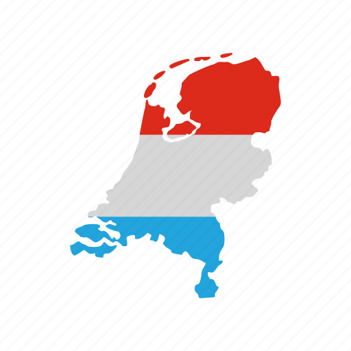 Country dutch flag geography map netherlands travel icon