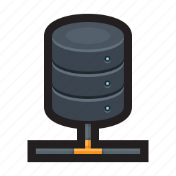 database, drive, external, local, network, storage icon