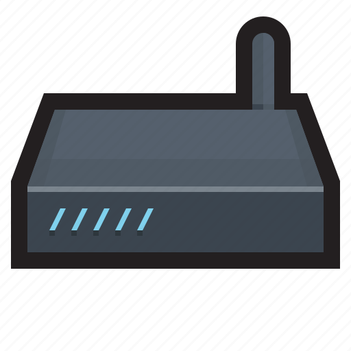connection, hub, modem, router, switch, wireless icon