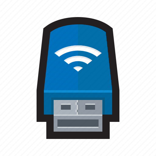 adapter, connection, plug, signal, usb, wi-fi, wireless icon