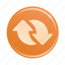 arrows, direction, navigation, orientation, up icon