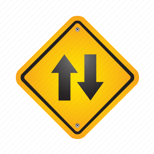 arrow, arrows, direction, down, sign, up, yellow icon