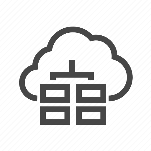 cloud, database, network, server icon