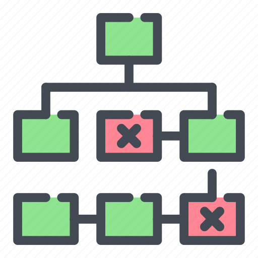 hierarchy, layout, network, sitemap, structure, thread, tree icon