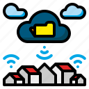 cloud, connection, data, internet, network, technology, web icon