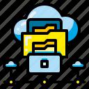 cloud, data, empty, file, folder, paper, pocket icon