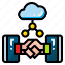 agreement, communication, contract, deal, handshake, shake, success icon