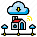 cloud, connect, homeused, media, network, server, social icon