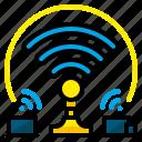 antenna, digital, hotspot, internet, signal, technology icon