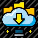 data, database, download, file, import, storage, web icon