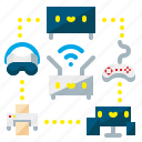 computer, devices, monitor, smartphone, tablet, technology, vr icon