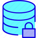 data, database, drive, hosting, locked, server, storage