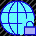 browser, internet, locked, network, social, web, website icon
