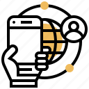 mobile, network, connection, phone, technology icon