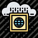 cloud, microchip, motherboard, processor, technology