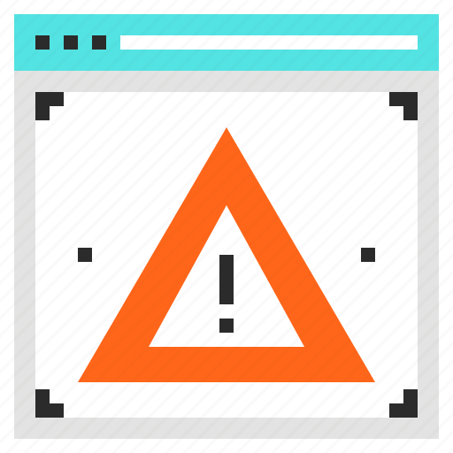 access, alert, denied, error, virus, warning, web icon