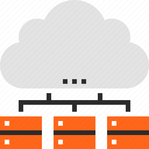 cloud, computing, data, database, internet, network, storage icon