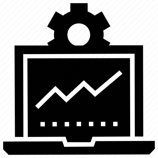 chart, computer, data, monitoring, processing, settings, system icon icon