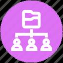 communication, connection, data, folder, network, sharing, team icon