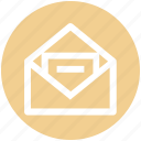 e-mail, envelope, letter, mail, message, paper, post