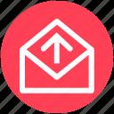 arrow, e-mail, envelope, letter, mail, message, send