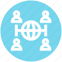 communication, globe, group, internet, networking, users, world icon