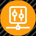 communication, control panel, hosting, manage, setting icon