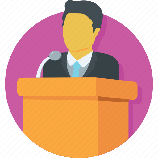 communication, conference, lecture, public speaker, speech icon