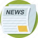 article, media, news, newsletter, newspaper icon