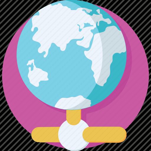 globe, hosting, internet, networking, server icon