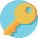 access, key, lock, password, safety icon