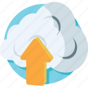 cloud network, cloud upload, computing, icloud, upload icon