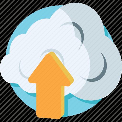 cloud network, cloud upload, computing, icloud, upload icon