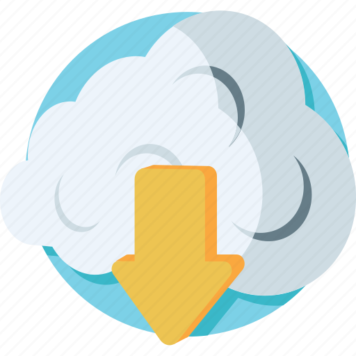 cloud download, cloud network, computing, download, icloud icon
