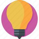 bulb, creativity, electric, idea, light icon
