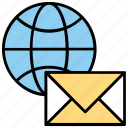 email marketing, email services, emarketing, global communication, global email icon