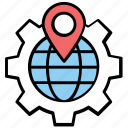 geographic information system, geolocating or positioning, geolocation, positioning system, satellite navigation icon