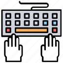 computer hardware, keyboard, programming, typing, typing practice icon
