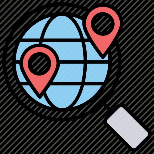 geomarketing, gps marketing, gps tracking, location searching, location-based marketing icon