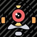 headphones, video chat, video communication, web camera, webcam icon