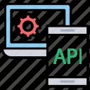 api integration, api interface, application programming interface, software application, software development process icon