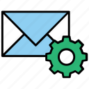 create email list, email management, mail settings, managing mailing list icon