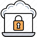 cloud computing protection, cloud computing security, cloud data privacy, secure access, secure cloud connection icon