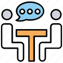 conference, conversation, discussion, meeting, table talk icon
