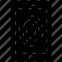 identification, biometric, identity scanner, fingerprint scanner, fingerprint reader icon