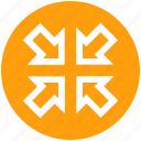 arrows, expand, full screen, maximize, window, zoom in icon